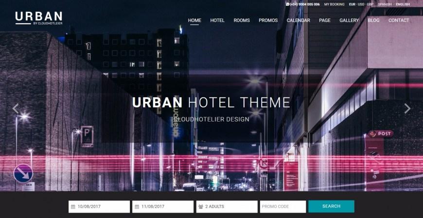 Urban: la plantilla para los hoteles más modernos