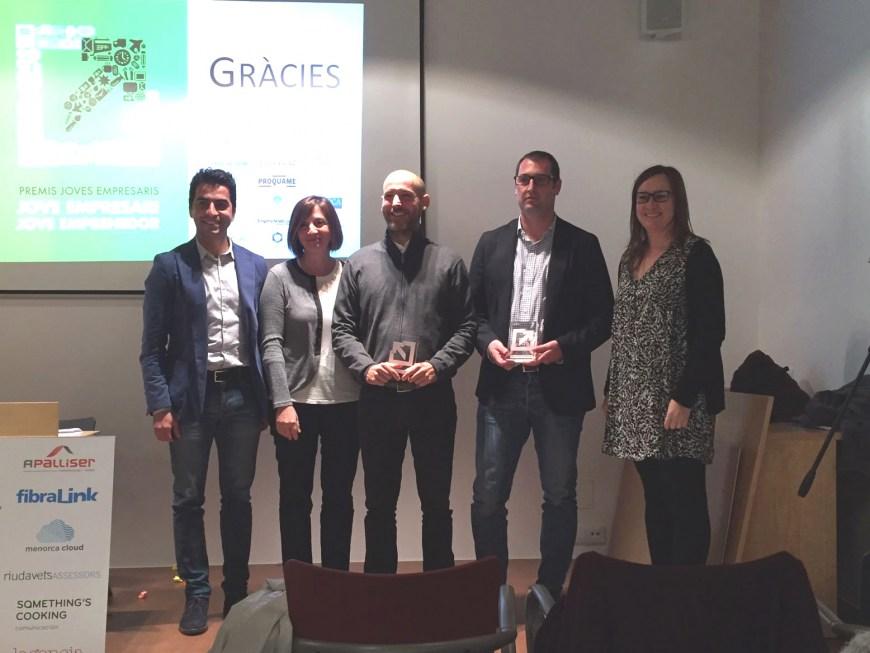 Recibimos el premio Jove Emprenedor