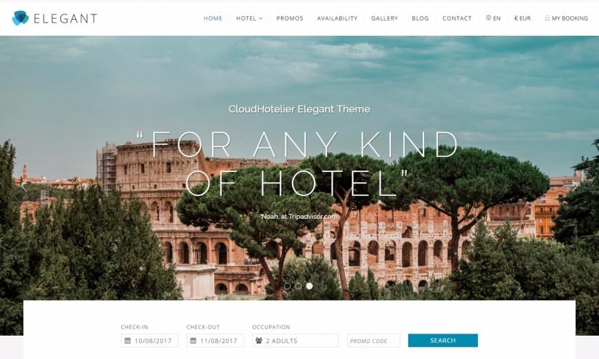 Elegant: la plantilla que mejorará las conversiones de tu hotel