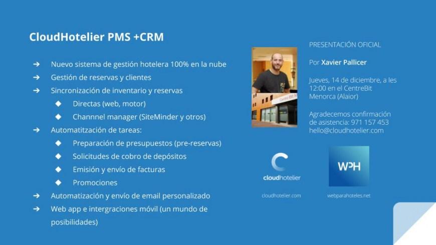 CloudHotelier PMS +CRM ya está en funcionamiento en beta privada
